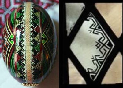 Symbol and Ukrainian Pysanska Egg