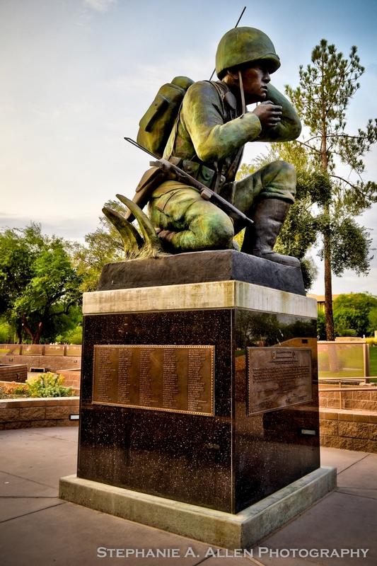 Stephanie Allen Navajo Code Talker statue